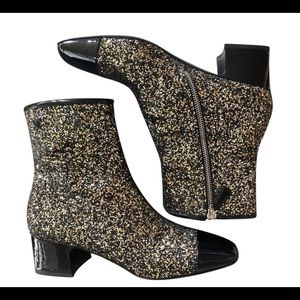 Chanel 2018 Glitter boots